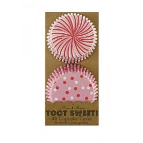 Cupcake cases σχέδιο ροζ Toot Sweet - ΚΩΔ:45-0859-JP