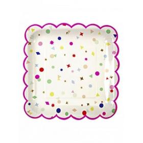 Πιάτο φαγητού TS Confetti - ΚΩΔ:124120-JP