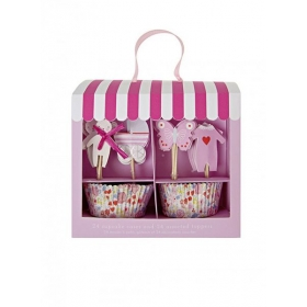 Cupcake kit Ροζ Μαγαζάκι - ΚΩΔ:125146-JP