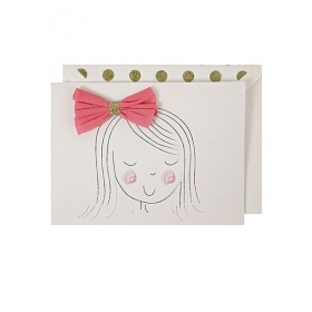 Girl's Bow Card - ΚΩΔ:132544-JP