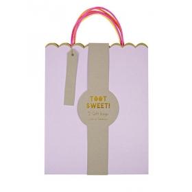 Τσάντες μεγάλες δώρου pastel & neon 3τμχ. - ΚΩΔ:132805-JP