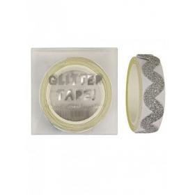 Αυτοκόλλητη Ταινία silver glitter ric rak - ΚΩΔ:135235-JP