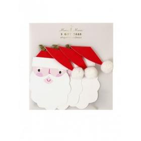 Χριστουγεννιάτικα καρτελάκια δώρων Santa - ΚΩΔ:65-0168-JP