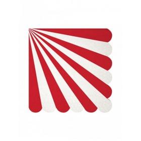 Χαρτοπετσέτα μεγάλη red stripe 20τμχ - ΚΩΔ:127036-JP