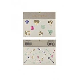 Gems & Arrows Τατουάζ 2τμχ - ΚΩΔ:135496-JP