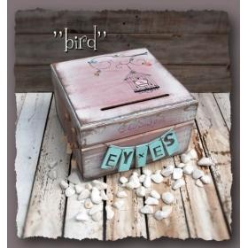 ΚΟΥΤΙ ΕΥΧΩΝ ΜΕ ΠΟΥΛΑΚΙ BIRD- ΚΩΔ: BIRD-BOX-BM