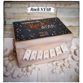 ΜΠΑΟΥΛΟ ΒΑΠΤΙΣΗΣ ΞΥΛΙΝΟ ΡΟΚ ΣΤΑΡ - ΚΩΔ:ROCKSTARBOX-BM