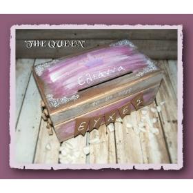 ΚΟΥΤΙ ΕΥΧΩΝ ΡΟΖ ΚΟΡΩΝΑ THE QUEEN  - ΚΩΔ:QUEEN-BOX-BM