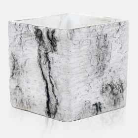 Κασπώ Κεραμικό Κύβος Luxury Wood Λευκό 15x15x15Υ - ΚΩΔ: 450215-DS