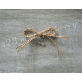 ΜΑΡΤΥΡΙΚΑ ΒΑΠΤΙΣΗΣ ΜΕ ΚΟΡΔΟΝΙ ΛΙΝΑΤΣΑΣ - 50 ΤΕΜΑΧΙΑ - ΚΩΔ:MR10-123