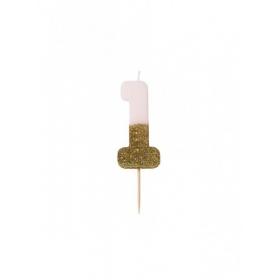 Κεράκι γενεθλίων για τούρτα Νο 1 We ♥ Birthdays - ΚΩΔ:BDAY-CANDLE-1-JP