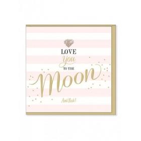 Ευχετήρια Κάρτα – Love You To The Moon And Back - ΚΩΔ:MD22-JP