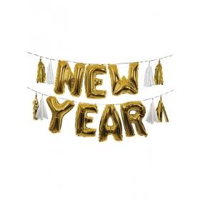 Μπαλόνια Foil Γιρλάντα New Year - ΚΩΔ:165223-JP