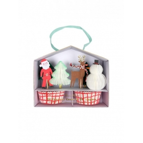 Cupcake Kit Άγιος Βασίλης και Τάρανδος - ΚΩΔ:162514-JP