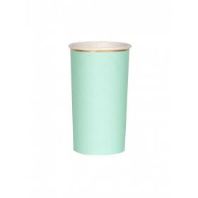Χάρτινο Ποτήρι Ψηλό (Cocktail) 400ml στο χρώμα της Μέντας - Mint - ΚΩΔ:181189-JP