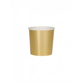 Χάρτινο Ποτήρι Χαμηλό (Κούπα) Χρυσό 260ml - ΚΩΔ:181684-JP