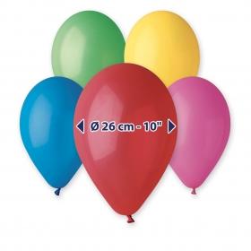 ΠΟΛΥΧΡΩΜΑ ΜΠΑΛΟΝΙΑ 9΄΄ (25cm)  LATEX – ΚΩΔ.:1360900-BB