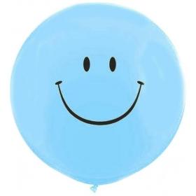 ΓΑΛΑΖΙΑ ΜΠΑΛΟΝΙΑ LATEX 90cm SMILE FACE – ΚΩΔ.:13530101-BB