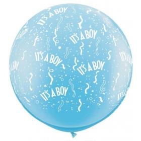 ΓΑΛΑΖΙΑ ΜΠΑΛΟΝΙΑ LATEX 90cm «It's a boy» – ΚΩΔ.:13530103-BB