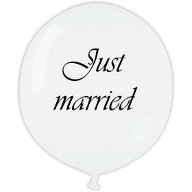 ΛΕΥΚΑ ΜΠΑΛΟΝΙΑ LATEX 90cm «Just Married» – ΚΩΔ.:13631102-BB