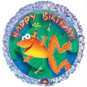 ΜΠΑΛΟΝΙ FOIL ΓΕΝΕΘΛΙΩΝ «Happy Birthday» ΜΕ ΒΑΤΡΑΧΑΚΙ 45cm – ΚΩΔ.:119710-BB