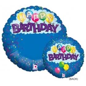 ΜΠΑΛΟΝΙ FOIL ΓΕΝΕΘΛΙΩΝ HAPPY BIRTHDAY ΜΕ CONFETTI ΕΚΤΥΠΩΣΙΜΟ 53cm – ΚΩΔ.:14100-BB