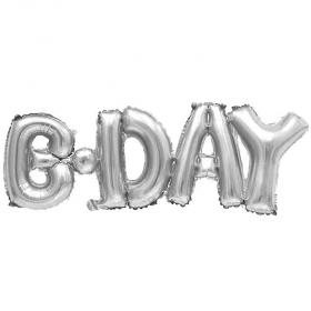 ΜΠΑΛΟΝΙ FOIL ΓΕΝΕΘΛΙΩΝ SUPER SHAPE «BDAY» ΕΝΩΜΕΝΗ ΦΡΑΣΗ ΑΣΗΜΙ 45cm – ΚΩΔ.:207121-BB