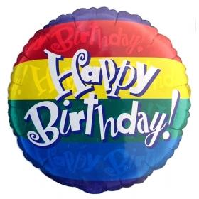 ΜΠΑΛΟΝΙ FOIL ΓΕΝΕΘΛΙΩΝ «Happy Birthday» ΡΙΓΕΣ 45cm – ΚΩΔ.:35549-BB