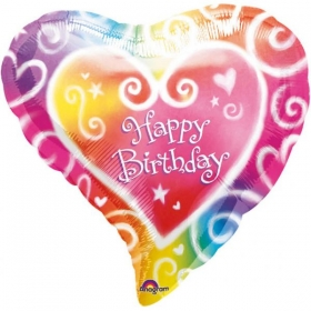 ΜΠΑΛΟΝΙ FOIL ΓΕΝΕΘΛΙΩΝ «Happy Birthday» ΚΑΡΔΙΑ 45cm – ΚΩΔ.:507635-BB