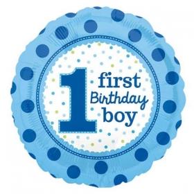 ΜΠΑΛΟΝΙ FOIL ΓΕΝΕΘΛΙΩΝ «1st Bday Boy» ΠΟΥΑ 45cm – ΚΩΔ.:532541-BB