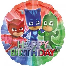 ΜΠΑΛΟΝΙ FOIL ΓΕΝΕΘΛΙΩΝ «Happy Birthday» PJ MASKS 45cm – ΚΩΔ.:534673-BB