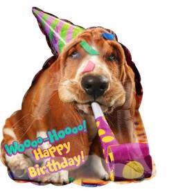 ΜΠΑΛΟΝΙ FOIL ΓΕΝΕΘΛΙΩΝ SUPERSHAPE ΣΚΥΛΑΚΙ «Woo Hoo Happy Birthday» 55x63cm – ΚΩΔ.:536528-BB