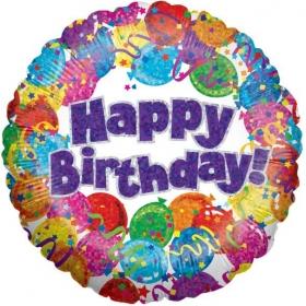 ΜΠΑΛΟΝΙ FOIL ΓΕΝΕΘΛΙΩΝ «Happy Birthday» ΜΕ ΜΠΑΛΟΝΙΑ ΚΑΙ CONFETTI 91cm – ΚΩΔ.:83020-BB