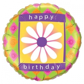 ΜΠΑΛΟΝΙ FOIL ΓΕΝΕΘΛΙΩΝ «Happy Birthday» ΜΕ ΜΑΡΓΑΡΙΤΑ 45cm – ΚΩΔ.:99100-BB