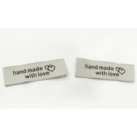 ΤΑΜΠΕΛΑΚΙ ΚΕΝΤΗΜΕΝΟ HAND MADE WITH LOVE 52x15mm - ΚΩΔ: 501241