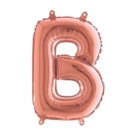 ΜΠΑΛΟΝΙ FOIL ΡΟΖ-ΧΡΥΣΟ 35cm ΓΡΑΜΜΑ B – ΚΩΔ.:142123RG-BB