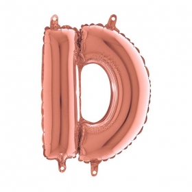 ΜΠΑΛΟΝΙ FOIL ΡΟΖ-ΧΡΥΣΟ 35cm ΓΡΑΜΜΑ D – ΚΩΔ.:142323RG-BB