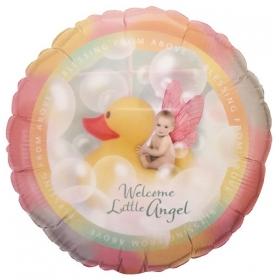 ΜΠΑΛΟΝΙ FOIL 45cm ΓΙΑ ΓΕΝΝΗΣΗ «Welcome Little Angel»– ΚΩΔ.:19156-BB