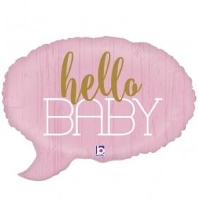 ΜΠΑΛΟΝΙ FOIL 61cm ΓΙΑ ΓΕΝΝΗΣΗ SUPERSHAPE «Hello Baby» ΡΟΖ – ΚΩΔ.:35692-BB