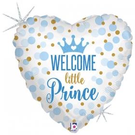 ΜΠΑΛΟΝΙ FOIL 45cm ΓΙΑ ΓΕΝΝΗΣΗ SUPERSHAPE «Welcome Little Prince» – ΚΩΔ.:36712-BB