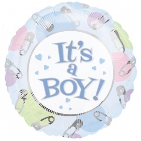 ΜΠΑΛΟΝΙ FOIL 45cm ΓΙΑ ΓΕΝΝΗΣΗ «It's a Boy» ΜΕ ΠΑΡΑΜΑΝΕΣ – ΚΩΔ.:509886-BB