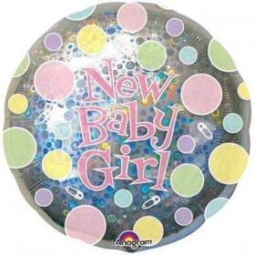 ΜΠΑΛΟΝΙ FOIL 45cm ΓΙΑ ΓΕΝΝΗΣΗ «New Baby Girl» ΠΟΥΑ – ΚΩΔ.:513504-BB