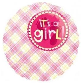 ΜΠΑΛΟΝΙ FOIL 45cm ΓΙΑ ΓΕΝΝΗΣΗ «It's a Girl» ΚΑΡΩ– ΚΩΔ.:517957-BB