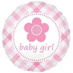 ΜΠΑΛΟΝΙ FOIL 45cm ΓΙΑ ΓΕΝΝΗΣΗ «Baby Girl» ΚΑΡΩ ΜΕ ΛΟΥΛΟΥΔΑΚΙ – ΚΩΔ.:524572-BB