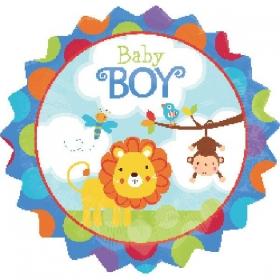 ΜΠΑΛΟΝΙ FOIL 45cm ΓΙΑ ΓΕΝΝΗΣΗ «Baby Boy» ΣΑΦΑΡΙ – ΚΩΔ.:526845-BB