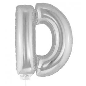 ΜΠΑΛΟΝΙ FOIL ΑΣΗΜΙ 40cm ΓΡΑΜΜΑ D – ΚΩΔ.:526LS1604-BB