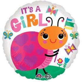 ΜΠΑΛΟΝΙ FOIL 45cm ΓΙΑ ΓΕΝΝΗΣΗ «It's a Girl» ΜΕ ΠΑΣΧΑΛΙΤΣΑ – ΚΩΔ.:533645-BB