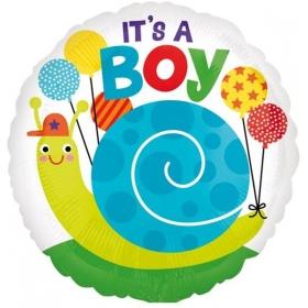 ΜΠΑΛΟΝΙ FOIL 45cm ΓΙΑ ΓΕΝΝΗΣΗ «It's a Boy» ΜΕ ΣΑΛΙΓΚΑΡΙ – ΚΩΔ.:533646-BB