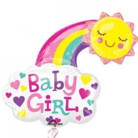 ΜΠΑΛΟΝΙ FOIL 76cm ΓΙΑ ΓΕΝΝΗΣΗ SUPERSHAPE «Baby Girl» ΗΛΙΟΣ ΚΑΙ ΟΥΡΑΝΙΟ ΤΟΞΟ – ΚΩΔ.:534054-BB