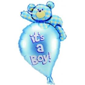 ΜΠΑΛΟΝΙ FOIL 69x91cm ΓΙΑ ΓΕΝΝΗΣΗ SUPERSHAPE ΑΡΚΟΥΔΑΚΙ «It's a Boy» – ΚΩΔ.:85046-BB